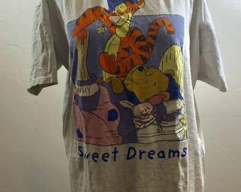 Vintage Pooh, Sleep Shirt, 90s Pooh Bear, 90s Pooh, Tigger Sleep Shirt, Vintage Tigger, Pooh Bear, Vintage Sleep Shirt, Piglet Shirt, Pooh