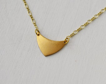 Brass Necklace, Simple Everyday Necklace, Bohemian Necklace, Pendant Necklace, Boho Necklace