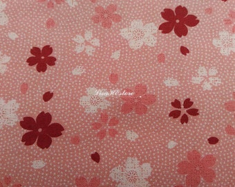 Cherry blossom, grayish pink, 1/2 yard, pure cotton fabric
