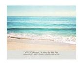 2017 Wall Calendar, Beach Calendar Photography, Coastal Wall Calendar, Ocean Calenders, 2017 Seashore Calendar, Monthly Beach Planner