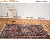 HOLIDAY SALE 10% OFF 4x5.5 Vintage Persian Heriz Rug