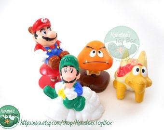 Vintage Super Mario Bros Toys: McDonalds Happy Meal Set of 4 Nintendo