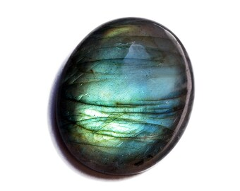 Labradorite Cabochon Stone (31mm x 26mm x 8mm) - Oval Cabochon