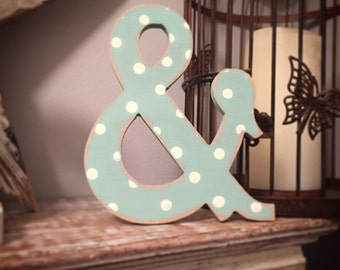 Wooden Wall Letter - Ampersand - Circus Font - Various Colours - 30cm high, 25mm thick - per letter