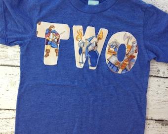 Ready to Ship second birthday shirt, boys birthday shirt, two shirt, dragon shirt, wizards