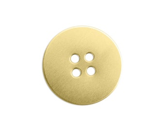 """3/4"""" Brass Button Stamping Blank, 24 gauge, Choose Quantity, Bulk Quantity Available, Metal Stamping Blank, Hand Stamped Jewelry"""