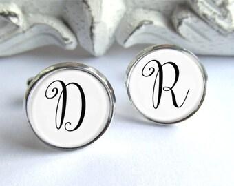 Monogram Cufflinks, Custom Personalized Cufflinks