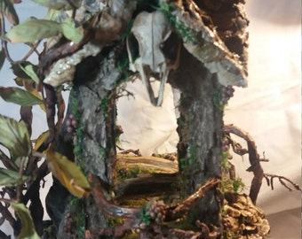 OOAK  Fairy House Dollhouse 1/12th Scale by J. McLaughlin Great for Realpuki BJD