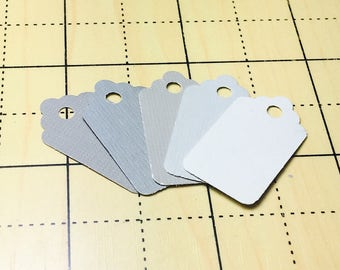 50 Count Greys Mini Tags