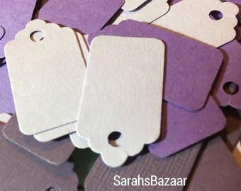 50 Count Mini Tags Purples