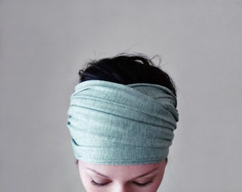 ICY MINT Yoga Headband - Extra Wide Hair Wrap - Bohemian Hair Accessories - Womens Head Scarf - Workout - Activewear Accessories