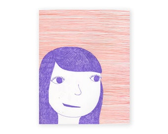 Girl in Purple, 8x10, fine art print