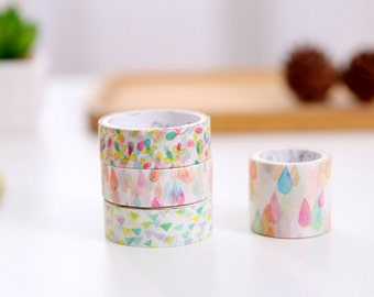 Washi Tape| Decorative Tape Watercolor Design - Set of 4