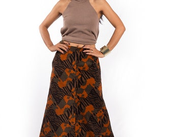 Maxi Skirt, Corduroy skirt, long skirt, floor length skirt : Feel Good Collection No. 4