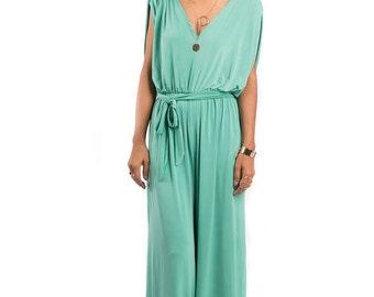 Jumpsuit, Mint jumper, Mint Green Sleeveless Jumper Dress : Classy Evening Dress Collection