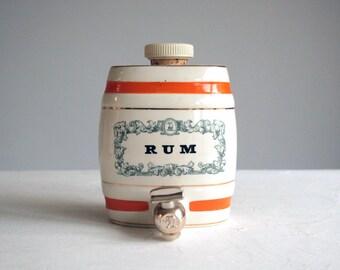 miniature wade royal victoria pottery rum barrel home bar