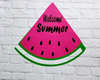 Watermelon Welcome Summer Vinyl Wall Decal