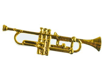 Trumpet Brooch pin Badge Miniblings Orchestral Instrument gd MINI