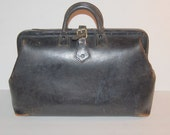 Vintage Leather Doctors Bag Medical Luggage Carry All Antique
