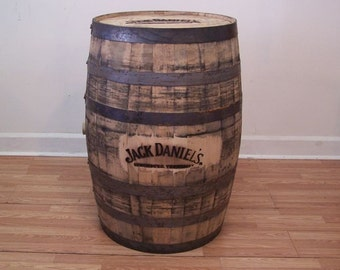 Authentic J.D. Branded Whiskey Barrel-FREE SHIPPING