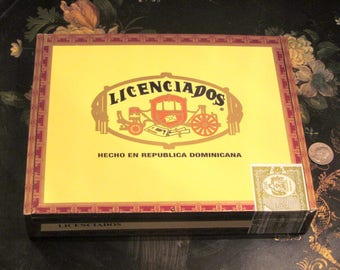 Wood Cigar Box For Crafts