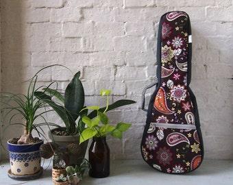 Concert ukulele  - Paisley -  ukulele case (Made to order)