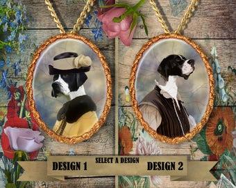 English Pointer Jewelry. English Pointer Pendant or Brooch. English Pointer Necklace. English Pointer Portrait. Custom Dog Jewelry