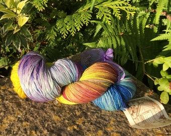 """100grms hand painted merino/nylon yarn """"skittles  """" """""""