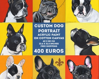 Custom Dog Portrait / 60x80 cm