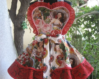 Retro Mexican Pin Up Apron Las Senoritas