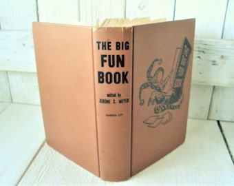 Vintage game book The Big Fun Book indoor entertainment party puzzles 1943
