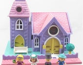 1993 Vintage Polly Pocket Wedding Chapel Pollyville Bluebird Toys (39506)
