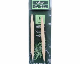 One Set of Clover Takumi Bamboo 29in Circular Knitting Needle Size 15 #3016CV29-15