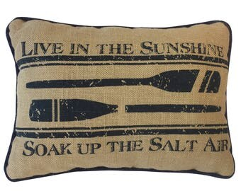 Live in the Sunshine pillow