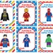 Superhero Valentine's Day Cards, Valentine's Day Cards, Printable,Instant Download, Digital