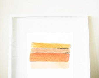 Modern Art Print - Kir Royal - Fine Art photo of vintage books, peach, faded candy pastels, yellow, orange, pink, coral, sweet, 8x8