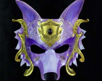 Whimsical Wolf - Ornate Series Leather Mask