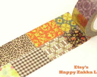 Deco Pattern Patchwork - mt Limited Edition - Japanese Washi Masking Tape - 7.6y - No Discount