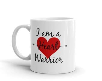 I Am a Heart Warrior CHD Heart Defect Coffee Tea Mug - Choose Size