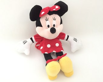Minnie Mouse BACKPACK - Kids Backpack Stuffed Animal Backpack Plush Toy Mickey Mouse Plushie Childs School Backpack