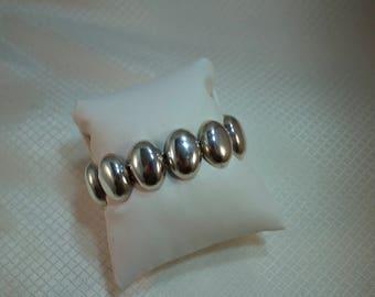 "Taxco Sterling Oval Link 7"" Bracelet"