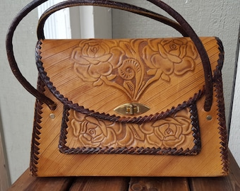 GORGEOUS   ///    Leather 70s Tooled Bag
