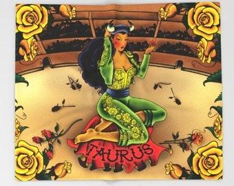 Horoscope Tattoo Taurus Blanket