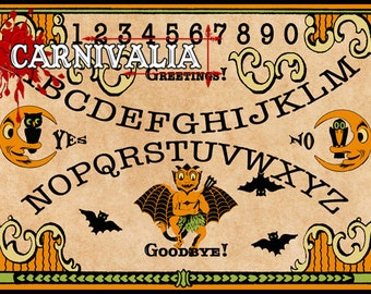 Devil May Care Talking Board, Ouija style Talking-board, Spiritboard, Witchboard