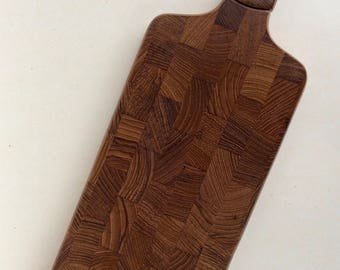 Dansk Cutting Board with Knife Staved Teak Cheese Board Jens Quistgaard
