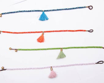Tassel Beaded Anklet  / Hippie / Boho / Ankle Bracelet/whole sale