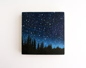 Night Sky Painting - 5 x 5