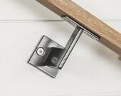 "Linear Handrail Bracket - 1/4"" Steel Plate Bracket wall mount rail stair step railing handrail"