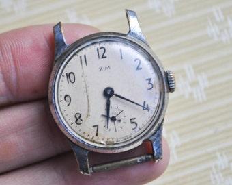 Working Watch. Vintage Soviet Russian wrist watch ZIM.