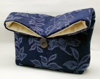 Foldover clutch, Fold over bag, clutch purse, evening clutch, wedding purse, bridesmaid gifts - Foral pattern (Ref. FC66 )